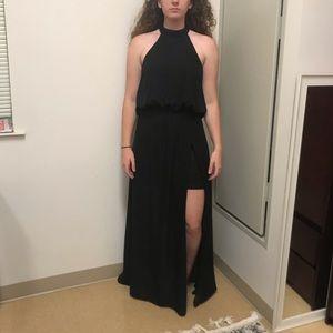 Black Maxi Dress with Halter Top